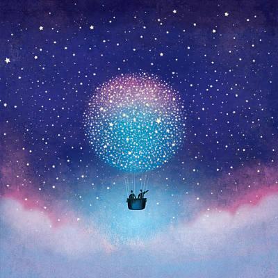 Digital Art - Stars Baloon by Roberto Weigand