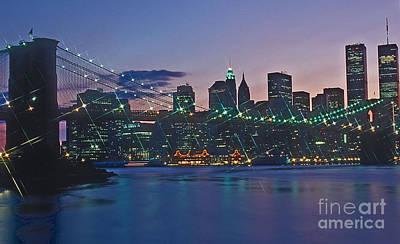 Stars Brooklyn Bridge Art Print by Bruce Bain