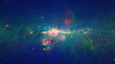 Space Photograph - Stars Gather In 'downtown' Milky Way by Space Art Pictures
