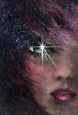 Stars In Her Eyes Art Print by Rachel Christine Nowicki