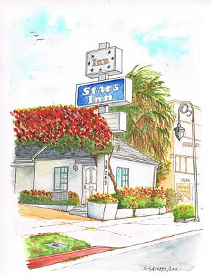 Stars Inn Motel, Century City, California Art Print by Carlos G Groppa