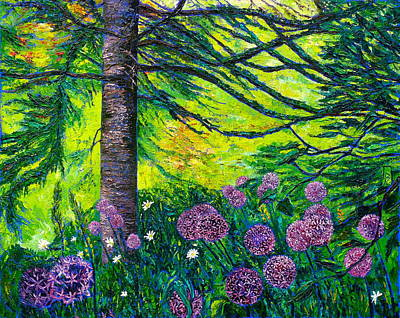 Allium Painting - Stars Of The Earth by Linda J Bean