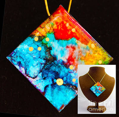 Wall Art - Painting - Stars On Granite Necklace by Alene Sirott-Cope