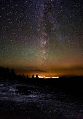Photograph - Stars Over Cadillac Mountain by Brent L Ander