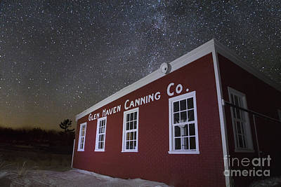 Stars Over Glen Haven Canning Company Art Print by Twenty Two North Photography