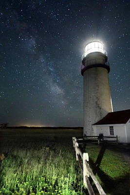Photograph - Stars Over Highland Lighthouse by Andrea Galiffi