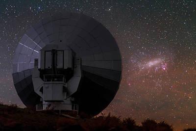 La Galaxy Photograph - Stars Over La Silla Observatory by Babak Tafreshi
