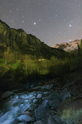Stars Over Lauterbrunnen Art Print