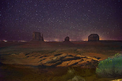 Photograph - Stars Over Monument Valley by Steven Barrows