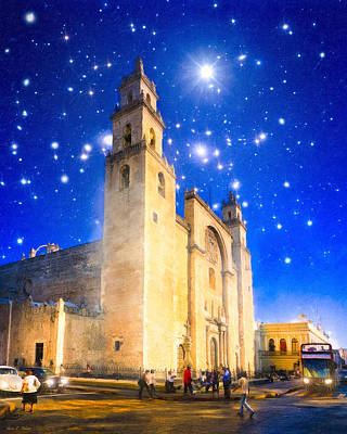 Mayan Photograph - Stars Shine On Merida by Mark E Tisdale