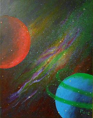 Outer Space Painting - Stars by Tomislav Neely-Turkalj