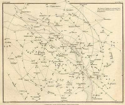 star map pograph stars visible in great britain 1822 by u s naval observatory library