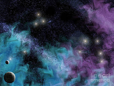 Zodiac Digital Art - Starscape Nebula by Antony McAulay