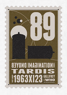 Science Fiction Digital Art - Starschips 89-bonus-poststamp - Dr Who - Tardis by Chungkong Art