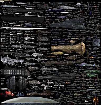 Digital Art - Starships... by Tim Fillingim