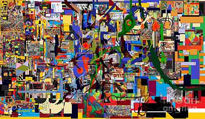 Talmud Digital Art -  Wiping Out The Language Of Amalek 9d by David Baruch Wolk