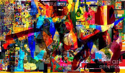 Inner Self Digital Art -  Wiping Out The Language Of Amalek 9db by David Baruch Wolk