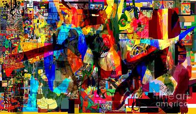 Inner Self Digital Art -  Wiping Out The Language Of Amalek 9dc by David Baruch Wolk