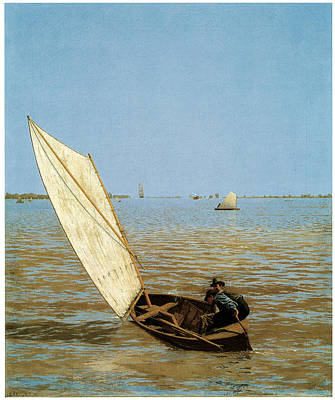 Starting Out After Rail Art Print by Thomas Eakins