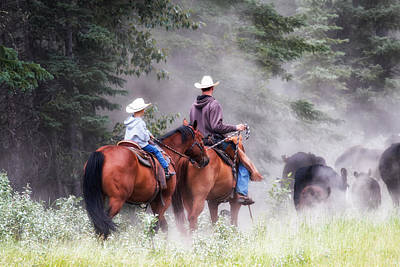 Working Cowboy Photograph - Starting Young by Celine Pollard