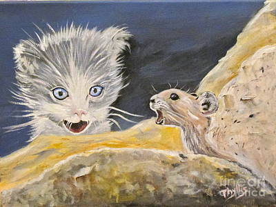 Painting - Startled   by Phyllis Kaltenbach