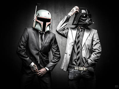 Boba Photograph - Starwars Suitup by Marino Flovent