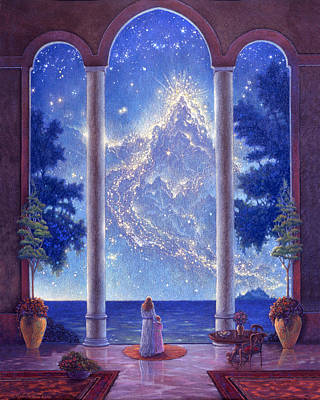 Cosmos Painting - Starway To Heaven by Michael Z Tyree