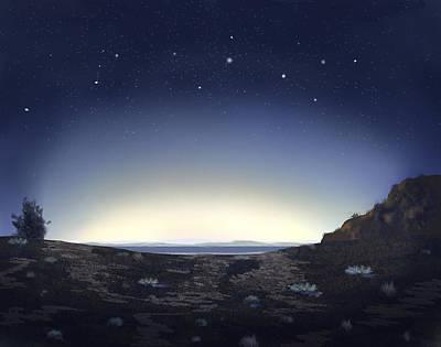 Painter Digital Art - Stary Night by Dale Stillman