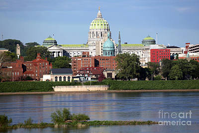 State Capitol Building Harrisburg Pennsylvania Art Print by Bill Cobb
