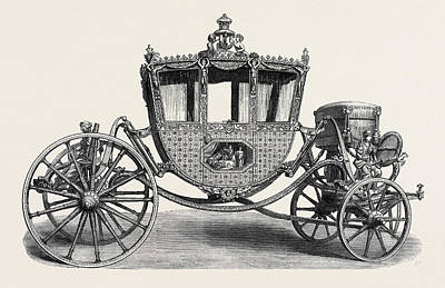 Chancellor Drawing - State Carriage Used By The Lord Chancellor Of Ireland 1780 by Irish School