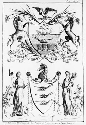 Virtue Painting - State Coat Of Arms, 1787 by Granger