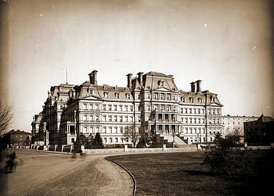 Washington D.c Drawing - State Department, State, War & Navy Building by Litz Collection