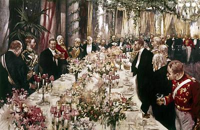 State Dinner, 1902 Art Print by Granger