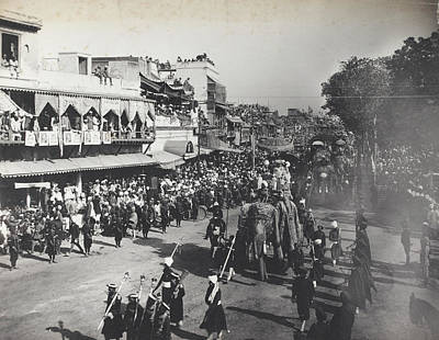 Delhi Photograph - State Entry Into The City Of Delhi by British Library