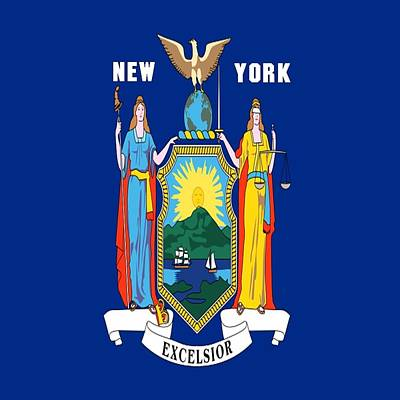 Digital Art - State Fag Of New York by Florene Welebny