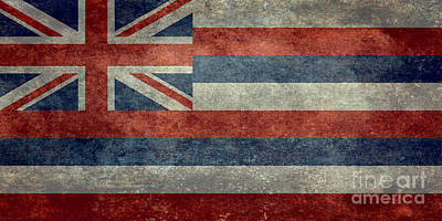 State Flag Of Hawaii Vintage Version Art Print