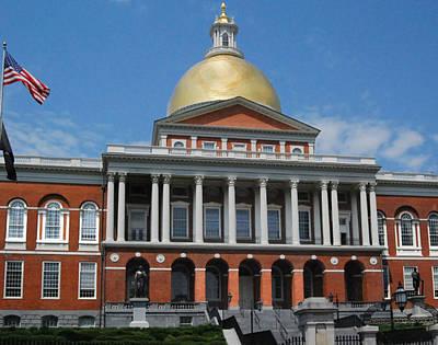 Photograph - State House Boston by Caroline Stella