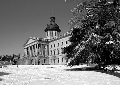 State House Snow Art Print by Joseph C Hinson Photography