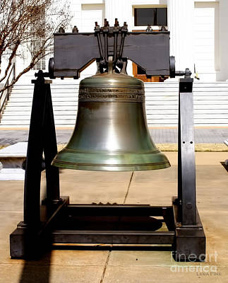 Photograph - State Of Alabama Capitol Building Liberty Bell by Lesa Fine