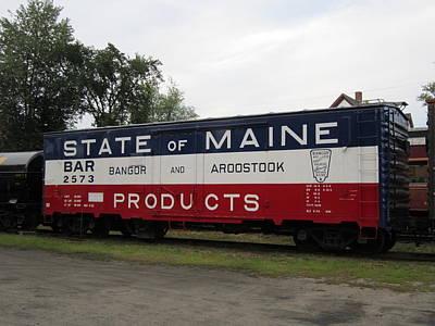 State Of Maine Train Original by JS Matthew