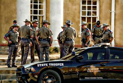 Digital Art - State Police by Carrie OBrien Sibley