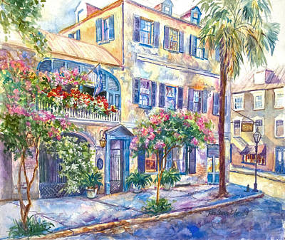 Palmetto Tree Painting - State Street Rainbow by Alice Grimsley