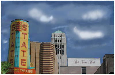 State Theater Art Print by C A Soto Aguirre
