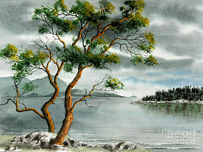 Stately Arbutus Art Print by Frank Townsley