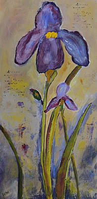 Painting - Stately Iris by Teresa Tilley