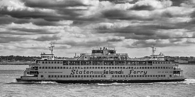 Photograph - Staten Island Ferry 10484 by Guy Whiteley