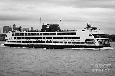 staten island ferry Andrew J Barberi new york usa Art Print by Joe Fox