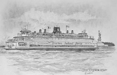 Staten Island Ferry Art Print by Jim Hubbard