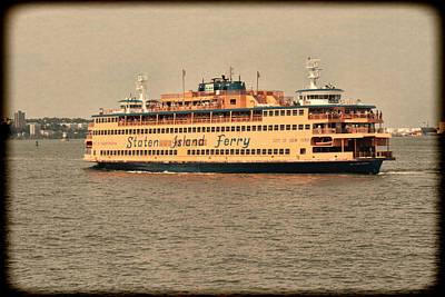 Staten Island Ferry Photograph - Staten Island Ferry by Jonathan Davison
