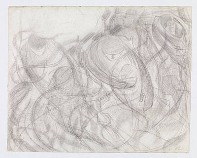 Umberto Boccioni Drawing - States Of Mind The Farewells by Umberto Boccioni